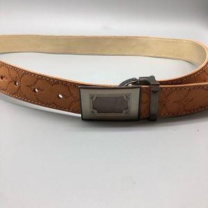 Yinye vintage style hand tooled leather belt